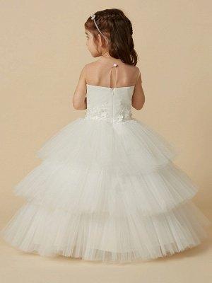 Lovely Jewel Tulle Lace Sleeveless Flower Girl Dress_2