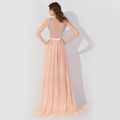 Cheap A-line Chiffon Tulle Lace Ruffles Bridesmaid Dress in Stock_2