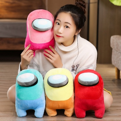10 Colors Hot Game Among Us Plushie Toys 20cm Among Us Game Plushie Dolls Among Us Game Plushie Toys Christmas Gifts for Kids