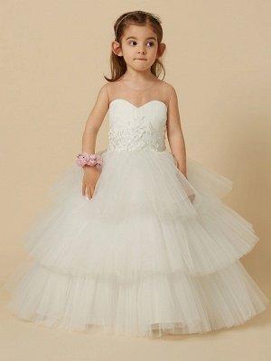 Lovely Jewel Tulle Lace Sleeveless Flower Girl Dress_4