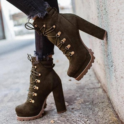 Fashion High Heel Boots Waterproof Platform Boots for Autumn/Winter 2021 On Sale_4