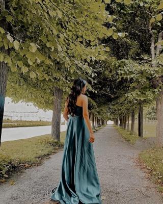 Asymmetrical One-Strap Satin Prom Dress On Sale_3