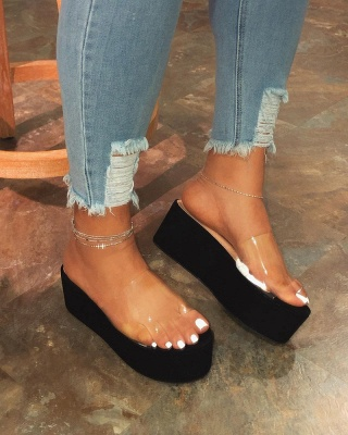 2021 Ladies Summer Platform Sandals New Arrival Women Outdoor Slippers Flat Shoes Ladies Shoes_7