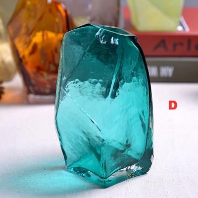 Diamond Bottle Flower Vase Creative Contracted Glass Furnishing Articles Personality Shaped Glass Bottles Modern Decoration Art_2
