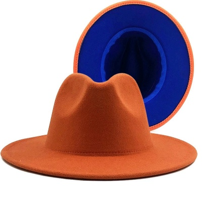 Two Tones Hats High Quality Wool Felt Fedora Hat For Men & Women Church Fedoras_3