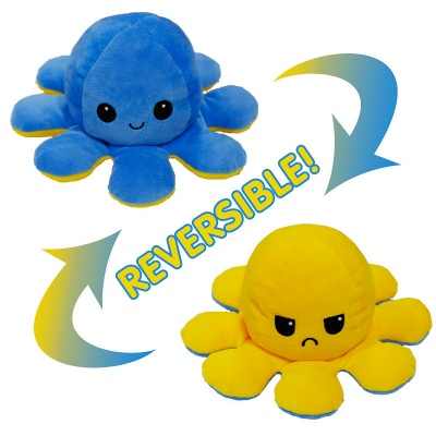 5 PCS Reversible Flip Octopus Stuffed Plush Doll Soft Simulation Reversible Plush Toys Color Chapter Plush Doll Child Toys_14