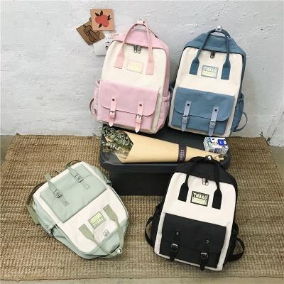 New Female Backpack 2021 Canvas Fashion Women Backpack Waterproof School Bags For Teenage Girls Shoulder Bags Women_5