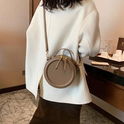 Crossbody Bag For Women Luxury Handbags Women Bags Designer Leather Round Small Shoulder Bag Female Zip Purse_7