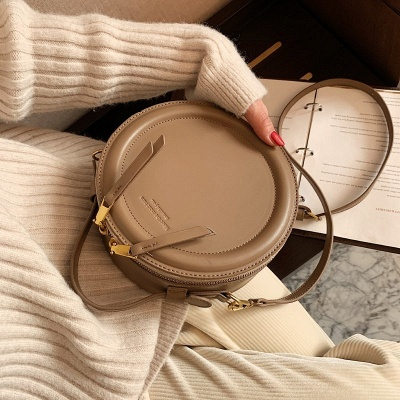 Crossbody Bag For Women Luxury Handbags Women Bags Designer Leather Round Small Shoulder Bag Female Zip Purse_1
