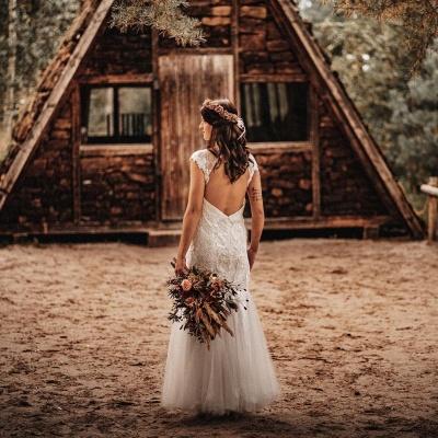Affordable Tulle Lace Sleeveless Wedding Dress_2
