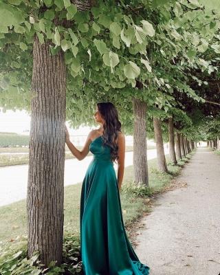 Asymmetrical One-Strap Satin Prom Dress On Sale_2