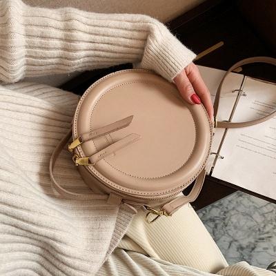 Crossbody Bag For Women Luxury Handbags Women Bags Designer Leather Round Small Shoulder Bag Female Zip Purse_2