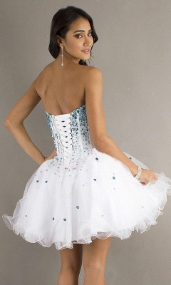 Cute Strapless Tulle Short Homecoming Dress On Sale_3