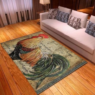 Musical Notes Cock Parlor Living Room Carpets Unicorn Kids Room Rug Anti-slip Floor Mats Bedroom Water Absorption Carpet Rugs