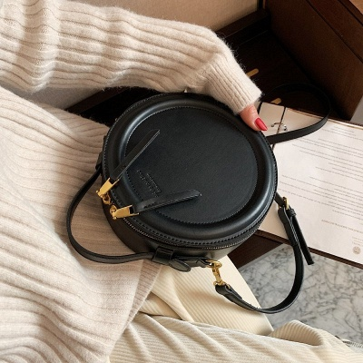 Crossbody Bag For Women Luxury Handbags Women Bags Designer Leather Round Small Shoulder Bag Female Zip Purse_3