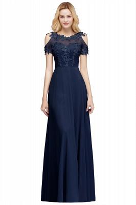 A-Line Appliques Scoop Beaded Silver Cold-Shoulder Bridesmaid Dresses_3