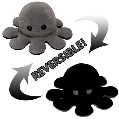 5 PCS Reversible Flip Octopus Stuffed Plush Doll Soft Simulation Reversible Plush Toys Color Chapter Plush Doll Child Toys_3