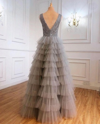 Boho Jewel Sequins Tulle Sleeveless Prom Dress_2