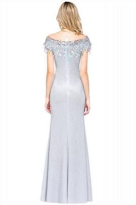 Elegant Jewel Short Sleeves Sequins Evening Dress with Tassels On Sale_3
