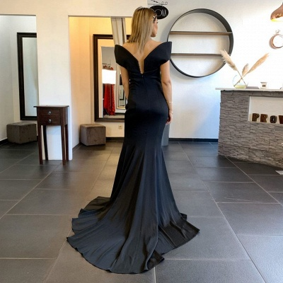 Stylish Mermaid Satin Lace Prom Dress with Beadings_2