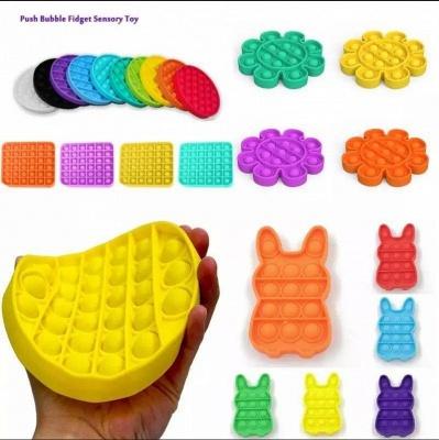 5 PCS Pop It Fidget Toy Sensory Push Pop Bubble Fidget Sensory Toy Autism Special Needs Anxiety Stress Reliever For Kids Adults