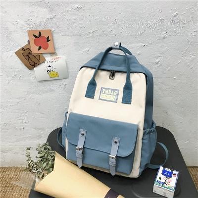 New Female Backpack 2021 Canvas Fashion Women Backpack Waterproof School Bags For Teenage Girls Shoulder Bags Women_1