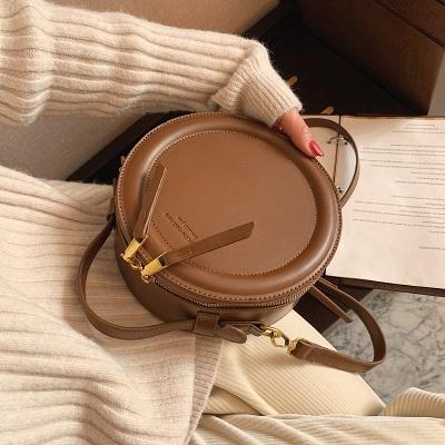 Crossbody Bag For Women Luxury Handbags Women Bags Designer Leather Round Small Shoulder Bag Female Zip Purse_4