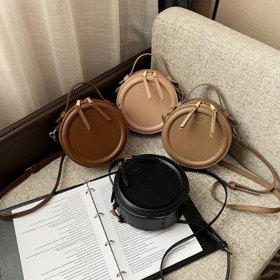 Crossbody Bag For Women Luxury Handbags Women Bags Designer Leather Round Small Shoulder Bag Female Zip Purse_5