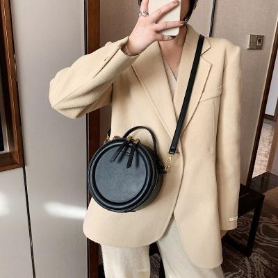 Crossbody Bag For Women Luxury Handbags Women Bags Designer Leather Round Small Shoulder Bag Female Zip Purse_6