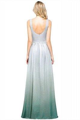 A-line Ruffles V-Neck Long Evening Dress On Sale_3