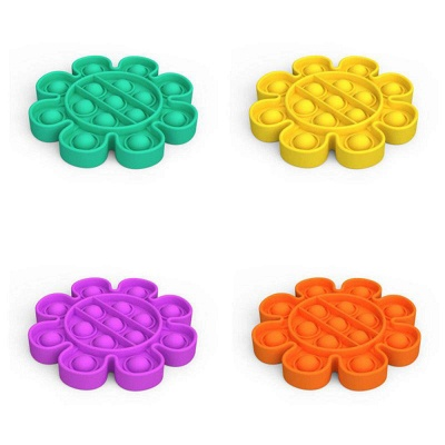 5 PCS Fidget Toy Pop It Decompression Sensory Push Sensory Toy Autism Anxiety Stress Reliever for Students Office Workers_24