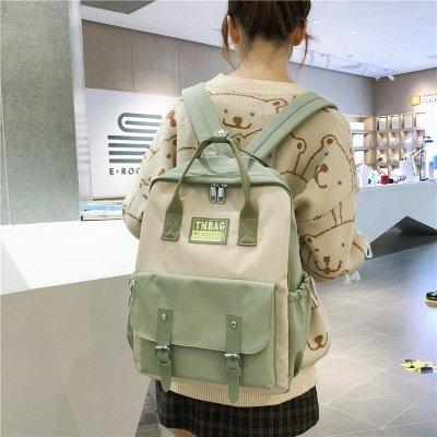 New Female Backpack 2021 Canvas Fashion Women Backpack Waterproof School Bags For Teenage Girls Shoulder Bags Women