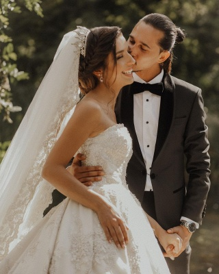 Luxury sweetheart wedding dress A line Wedding dresses lace_7