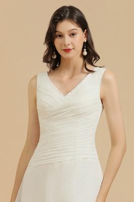 Classic V-Neck Sleeveless Knee Length Chiffon Bridesmaid Dresses_7