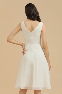 Classic V-Neck Sleeveless Knee Length Chiffon Bridesmaid Dresses_9