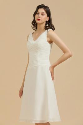 Classic V-Neck Sleeveless Knee Length Chiffon Bridesmaid Dresses_4