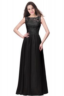 ELYSE   A-line Sleeveless Crew Floor-length Lace Top Chiffon Prom Dresses_6