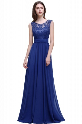 Sleeveless Lace Long Chiffon Prom Dress Online_3