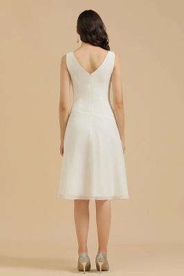 Classic V-Neck Sleeveless Knee Length Chiffon Bridesmaid Dresses_3