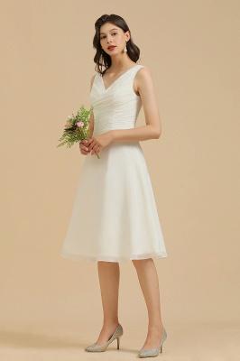 Classic V-Neck Sleeveless Knee Length Chiffon Bridesmaid Dresses_8
