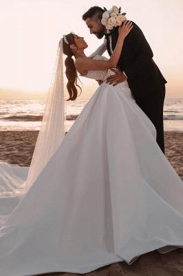 Sexy One Shoulder Ruffle Satin Seqiuns Mermaid Bridal Dresses_3
