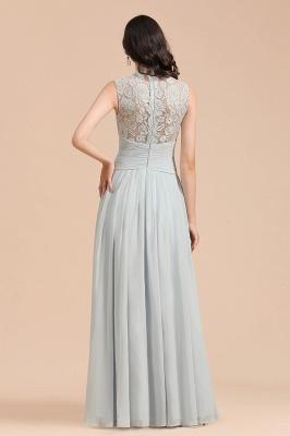 Floor Length Chiffon High Neck Lace Bridesmaid Dresses_3