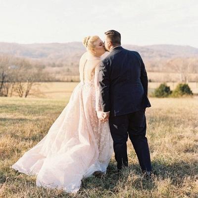 Plus size wedding dresses Lace Oversized wedding dresses with sleeves_2