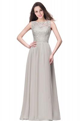 ELYSE   A-line Sleeveless Crew Floor-length Lace Top Chiffon Prom Dresses_7