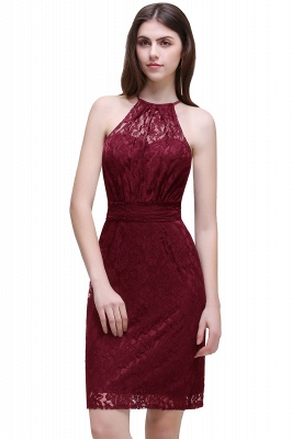 Cheap Elegant Halter Lace Sheath Short Prom Dress in Stock_1