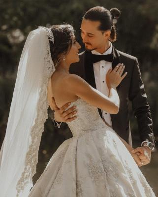 Luxury sweetheart wedding dress A line Wedding dresses lace_6