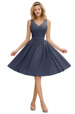 Cheap A-line Chiffon Ruffle Bridesmaid Dress Sleeveless Lace Homecoming Dress in Stock_5