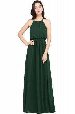 Dark Navy Halter Chiffon Sleeveless Bridesmaid Dresses | Wedding Guest Dresses_9