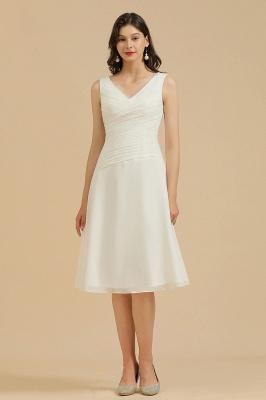 Classic V-Neck Sleeveless Knee Length Chiffon Bridesmaid Dresses_2