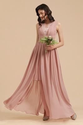 Elegant Sleevele Dusty Pink Chiffon Bridesmaid Dresses_8